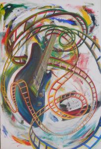Guitar coaster